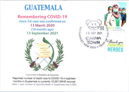 (2A34) 1st Case Of COVID-19 Reported To WHO In Guatemala (18 Month Ago 13-3-2020) (COVID-19 TAG Stamp) - Krankheiten