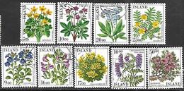 Iceland 1985-8   9 Diff Flowers Used 2016 Scott Value $4.85 - Gebruikt