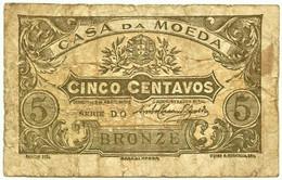 CÉDULA De 5 Centavos 1918 - SÉRIE DO - Pick 99 - M. A. N.º 7.a - CASA Da MOEDA Portugal Emergency Paper Money Notgeld - Portugal
