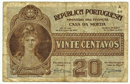 CÉDULA De 20 Centavos - 11.04.1925 - SÉRIE A/86 - Pick102 - M. A. N.º 11 - CASA Da MOEDA - Emergency Paper Money Notgeld - Portugal