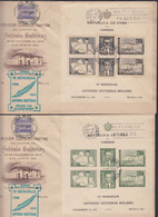 Cuba 1951 Antonio Gutieras Holmes FDC - First Day Covers, Primer Dia Mi#Block 7 And 8, Scarce Pieces - Covers & Documents