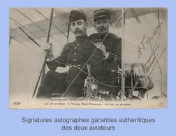 Avion, Aviation, : FÉQUANT Et MARCONNET Sur FARMAN De BOUY (Marne-51) à VINCENNES (94). Signée De Chaque Aviateur. 1910. - Aviadores