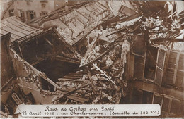 Carte-photo - Raid De Gothas Sur Paris - 12 Avril 1918 - Rue Charlemagne (torpille De 300 Kgs) - Arrondissement: 04