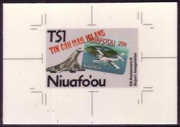 Tonga Niuafo'ou 1988 Cromalin Proof - Shows Concorde - 4 Exist - Concorde