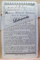 IP. 84. Vincent Dartois Curé De Thumaide Né à Soignies En 1838, Décédé En 1889 - Devotion Images