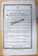 IP. 88. Henri Victor Denis Errembault Du Maisnil Décédé Au Château De Thumaide En 1878 - Devotion Images