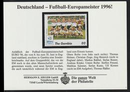 Gambia 1996 UEFA European Championship In Football - Germany Champions MNH/** (DD29-7) - Championnat D'Europe (UEFA)