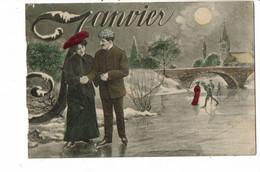 CPA -  Carte Postale -France  Fantaisie Illustration Du Mois De Janvier - 1905 VM37841ok - Mechanical