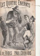 (SEPT ) Les Quatre Enfants , AMIATI , Paroles J DE RIOLS , Musique PAUL COURTOIS - Scores & Partitions