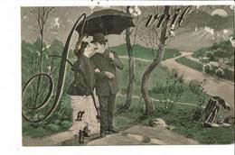 CPA -  Carte Postale -France  Fantaisie Illustration Du Mois D'Avril  1905 VM37844ok - Mechanical