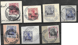 Offices In Turkey VFU 7 Fragments With Some Different Constantinopel Cancels - Ufficio: Turchia