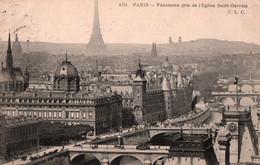 CPA - PARIS - Panorama Pris De L'Eglise St Gervais … Edition C.L.C. - Cartas Panorámicas
