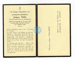 Thiel, Luitenant Generaal Rijkswacht, Poperinge 1905 Brussel 1968 - Images Religieuses