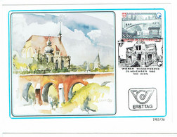 AUTRICHE ALIMENTATION EN EAU DE VIENNE  1ER JOUR  1985   ALPES MONTAGNES - Andere