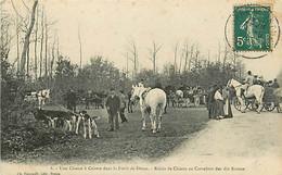 28 CHASSE A COURRE FORET DE DREUX -  Relais De Chiens Au Carrefour Des Dix Routes - Dreux