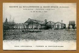"""BAR-SUR-AUBE  (10) : """" SOCIETE DES BOULONNERIES DE BOGNY-BRAUX - USINE """"  Carte Commerciale - Bar-sur-Aube"""