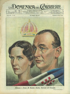 """1941 - N° 21 - COPERTINA ORIGINALE - """"LA DOMENICA DEL CORRIERE"""" - AIMONE E IRENE DI SAVOIA AOSTA, SOVRANI DI CROAZIA - War 1939-45"""