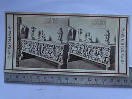 Photo Stéréoscopique ITALIE - NAPOLI N° 575 Trionfo Di Bacco - Triomphe De Bacchus - Stereoscopic