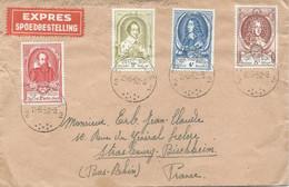 LETTRE PAR EXPRES 1952 AVEC 4 TIMBRES - Lettres & Documents