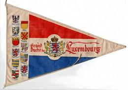 Fanion Pub Publicitaire Ancien Le Grand Duche Du Luxembourg 1950 Collection Rare ECUSSON BLASON - Targhe Rallye