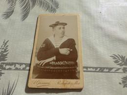 20/9 ,6, Photo CDV, Marin Du Davout En Tenue D'apparat, A.Grémion, Rochefort Sur Mer - Guerra, Militari