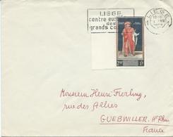 LETTRE POUR LA FRANCE 1959 AVEC  VIGNETTE AU VERSO - Lettres & Documents