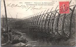 75004 PARIS - Travaux Du Métro, Caisson Du Marché Aux Oiseaux - Arrondissement: 04