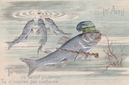 CPA/THEME/013.........GAUFFREE - 1° Aprile (pesce Di Aprile)