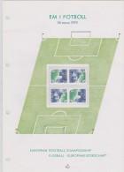 SOCCER FOOTBALL FÚTBOL FUSSBALL EUROPEAN CHAMPIONSHIP 1992 SWEDEN SUEDE SCHWEDEN  MI 1712 1713 MNH Collector Card - Championnat D'Europe (UEFA)