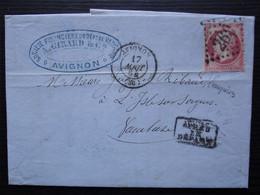 Avignon 1864 A. Girard Société Financière Du Dep De Vaucluse Gc 260 Sur 80 Centimes Rose (défectueux) - 1849-1876: Periodo Clásico