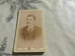 20/9 ,24 , Photo CDV Italie, Homme Moustachu,  Bosco De Bricca, Torino, Via Garibaldi - Ancianas (antes De 1900)