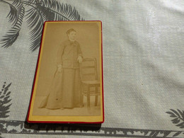 20/9 ,26 , Photo CDV Italie,Femme En Tenue Sobre, Degioanini Giovanni , Fossano - Ancianas (antes De 1900)