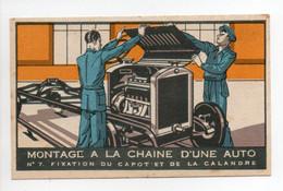 - CHROMO CHOCOLAT RÉVILLON - MONTAGE A LA CHAINE D'UNE AUTO - Edition Gourgoulin N° 7 - - Revillon