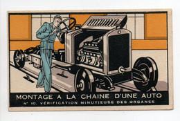- CHROMO CHOCOLAT RÉVILLON - MONTAGE A LA CHAINE D'UNE AUTO - Edition Gourgoulin N° 10 - - Revillon