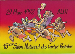 ALBI - 15 è Salon National Des Cartes Postales (29 Mars 1992) - Dessin De M. ROMAN - Beursen Voor Verzamellars