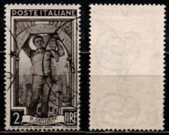 Italia Al Lavoro 2 Lire Filigrana Ruota 3 Destra Bassa - 1946-60: Gebraucht