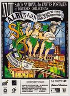 ALBI - XVIIè Salon National Des Cartes Postales (27 Mars 1994) - Dessin De Christian CHABERT - Beursen Voor Verzamellars