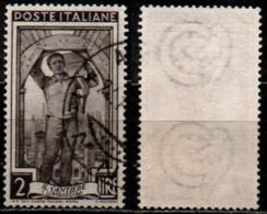# Italia Al Lavoro 2 Lire Filigrana Ruota 3 Destra Bassa - 1946-60: Gebraucht