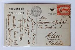 """Cartolina Illustrata """"Teatro Colony Bar San Martin"""" Lima Viaggiata Per Milano 1934 - Peru"""