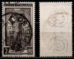 # Italia Al Lavoro 2 Lire Filigrana Ruota 3 Sinistra Alta - 1946-60: Gebraucht
