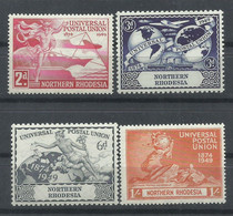 RHODESIA   DEL NORTE   YVERT  42/45  MNH  ** - Northern Rhodesia (...-1963)