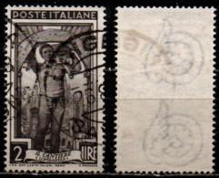 Italia Al Lavoro 2 Lire Filigrana Ruota 3 Sinistra Alta - 1946-60: Gebraucht