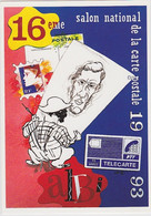 ALBI - 16è Salon National De La Carte Postale (4 Avril 1993) - Dessin De Marc LENZI (autographe Au Dos) - Beursen Voor Verzamellars