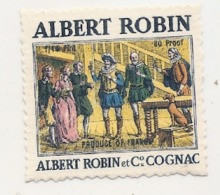 étiquette -  1900/1960 - Mini étiquette Mignonette - Flask - COGNAC - ALBERT ROBIN - 5cm - Whisky