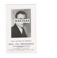 DOODSPRENTJE VAN WEYMEERSCH JEAN RENAIX LEIPZIG (ALLEMAGNE) 1922 - 1945 MET FOTO OORLOGSSLACHTOFFER WO II - Devotion Images