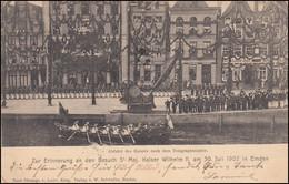 Ansichtskarte Abfahrt Des Kaisers Nach Dem Telegraphenamte EMDEN 11.8.1902 - Non Classés