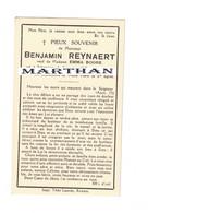 DOODSPRENTJE REYNAERT BENJAMIN VEUF BOONE SCHOORISSE RENAIX 1867 - 1945 MET FOTO - Devotion Images