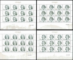 China 2010/2010-19 Foreign Composers/Musicans Stamp Full Sheet 4v MNH - Blocks & Kleinbögen