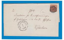 DANEMARK -- 1863 -- Lettre De HELSINGOR Pour COPENHAGUE -- - Brieven En Documenten