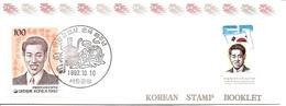 KOREA SOUTH, 1992, Booklet Philatelic Center 109, Martyrdom Pong-Chang - Korea, South